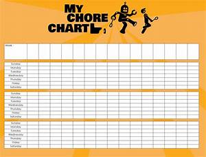 9 Best Blank Weekly Chore Chart Printable Templates