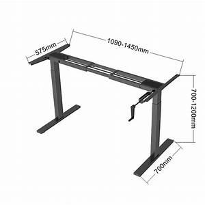 Hand Manual Crank Standing Desk Adjustable Height Sit To