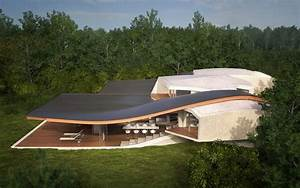 Futuristic, Vacation, Home, Opens, Up, To, Outdoors