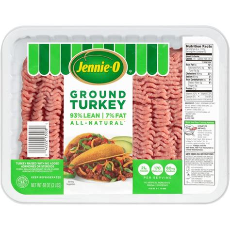 Because insulin cannot work properly, blood glucose levels keep rising, releasing more insulin. Jennie-O Lean Ground Turkey, 48 Ounce (3 pound) - Walmart ...