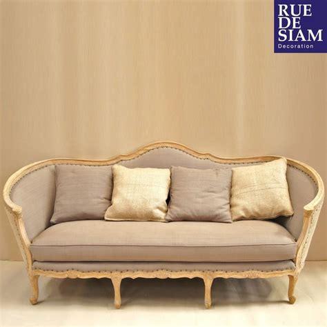 canap style anglais en tissu canapé ottoman louis xv relooké gustavien la structure