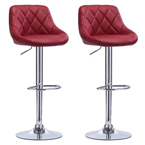 kitchen breakfast bar stools bar stools faux leather set of 2 kitchen breakfast bar