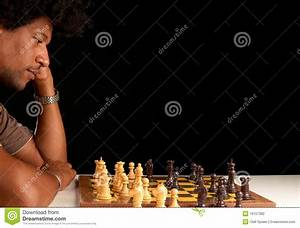 African American Male Playing Chess Royalty-Free Stock ...