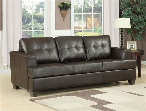 Modern Leather Sleeper Sofa by Brown Bonded Leather Modern Sofa W Size Sleeper