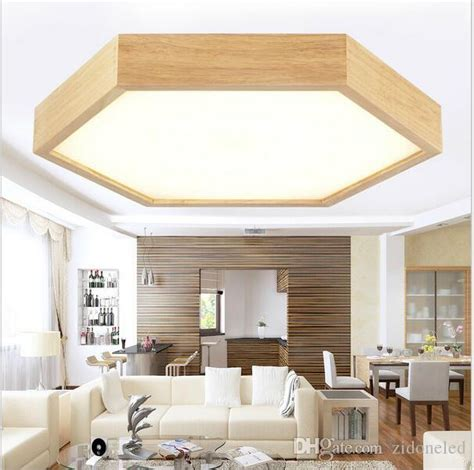 recessed ceiling lights 2018 modern minimalist wood led ceiling lights hexagon