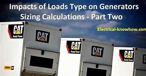 Generators Sizing Calculations  U2013 Part Eight
