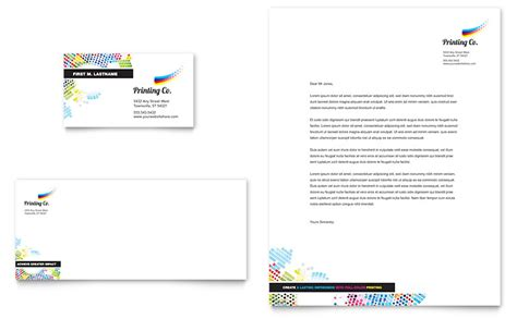 Printing Company Business Card & Letterhead Template