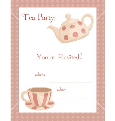 printable tea party invitation templates business