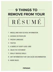 things to write on resume 9 things to remove from your r 233 sum 233 right now