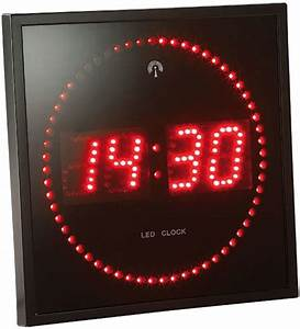 Horloge Murale Led : horloge murale avec chiffre et secondes led rouge ou bleu ~ Teatrodelosmanantiales.com Idées de Décoration