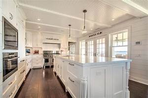quogue luxury home by hamptons habitat custom home building With best brand of paint for kitchen cabinets with long beach wall art