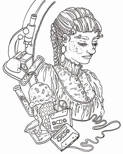 Coloring Pages Portraits Ingram Lynell Printable Getcolorings