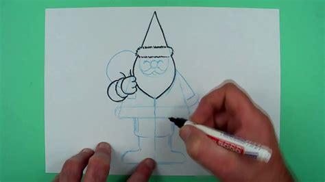 wie malt man einen super einfachen weihnachtsmann