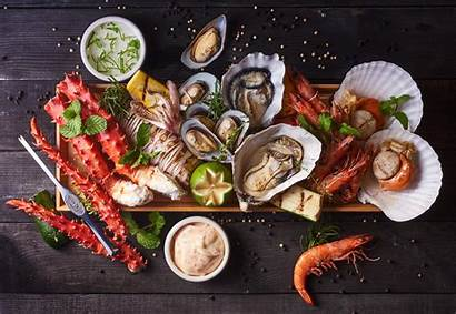 Seafood Shrimp Fish Wallpapers Oysters Crustacean Still