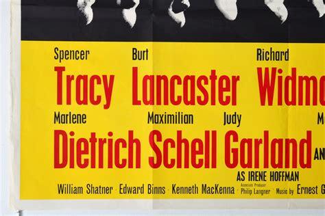 judgment  nuremberg original cinema  poster