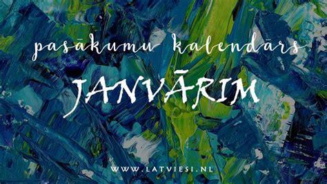 Pasākumu kalendārs janvārim - Latvieši NL