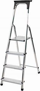 Haushaltsleiter 6 Stufen : haushaltsleiter aluminium mit arbeitsschale 4 stufen plattformh he 0 8m brennenstuhl ~ Eleganceandgraceweddings.com Haus und Dekorationen
