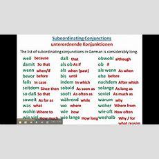 German Conjunctions  Wwwgermanforspaldingorg Youtube