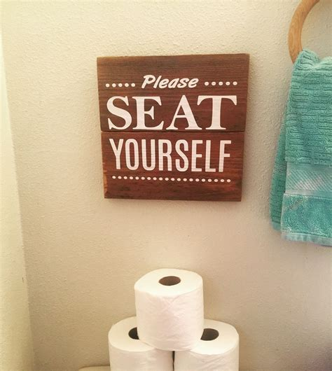 Novelty Bathroom Pictures by Bathroom Sign Made By Farmhouse Clutter Www