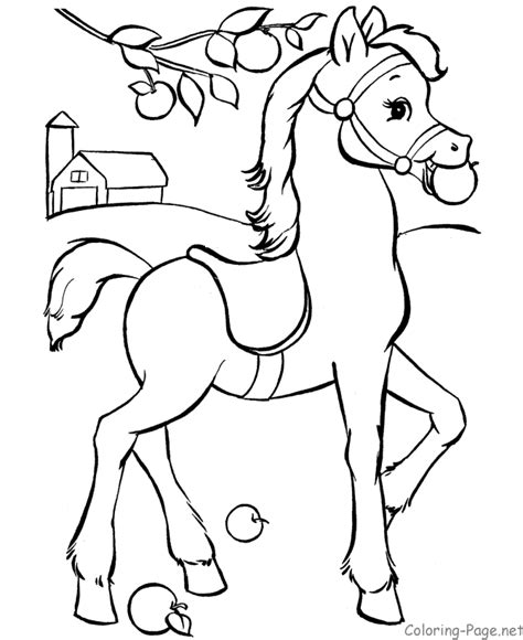 horses to color coloring page coloring home