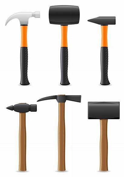 Hammer Vector Tool Handle Illustration Plastic Wooden