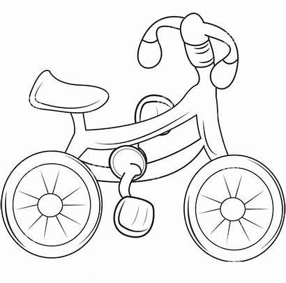Gambar Untuk Anak Coloring Bicycle Diwarnai Sepeda