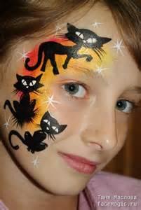 Black Cat Halloween Face Paint Kid's
