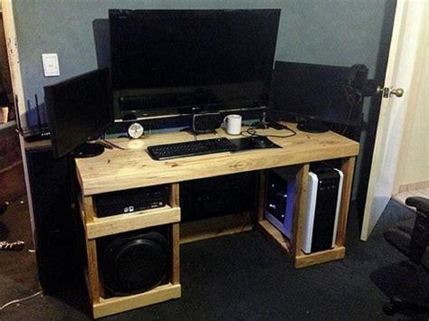 computer desk plans pallet computer desks pallet wood projects