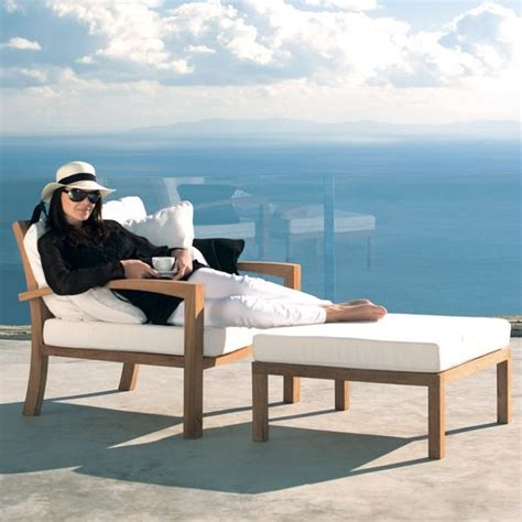 outdoor teak lounge chair contemporary patio chicago