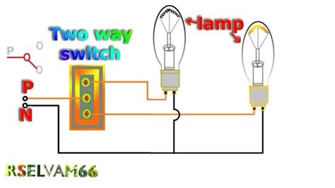 How Work Electrical Two Way Switch Youtube