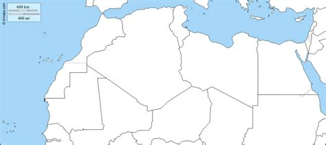 North Africa free map, free blank map, free outline map ...