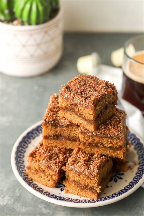This cake mix coffee cake is light and fluffy, yet moist and delicious. Paleo Coffee Cake - Little Bits of...