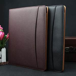 a4 document bag file folder clip board business office With leather document files bags