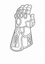 Infinity Gauntlet Coloring Marvel Legends sketch template