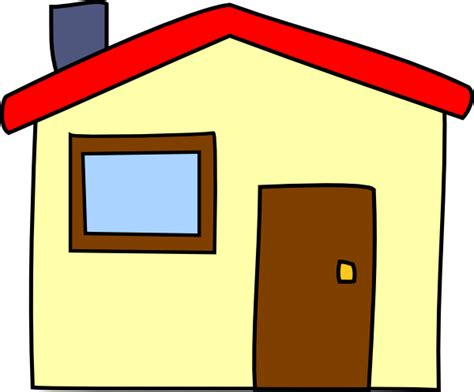 Simple Cartoon House Clip Art At Clker.com