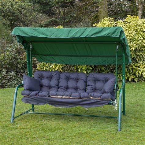 alfresia luxury garden swing seat cushions  seater