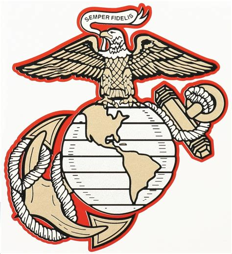 EAGLE GLOBE & ANCHOR DECAL - Northern Safari Army Navy ...