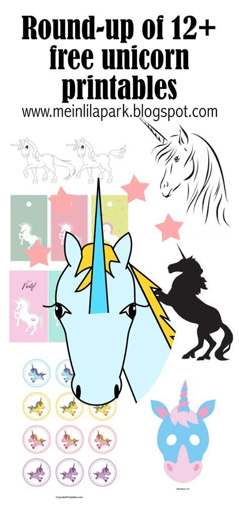 unicorn printables einhorn