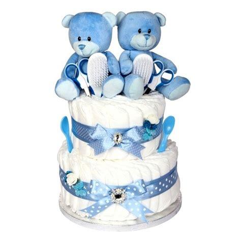 signature  tier twin boys nappy cake newborn twin