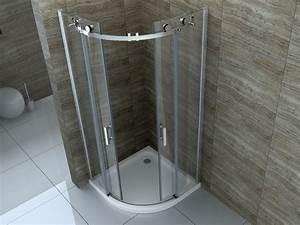 Runddusche 90x90 Schiebetür : rombo 90 x 90 cm glas schiebet r viertelkreis dusche duschkabine duschabtrennung ebay ~ Orissabook.com Haus und Dekorationen