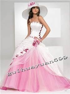 robe de mariee blanche et rose pale la mode des robes de With robe de mariée rose et blanche