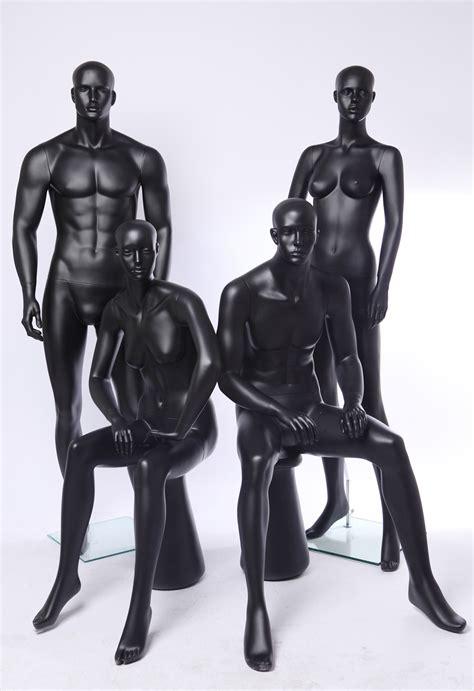 mannequin vitrine femme occasion euroton display abstrakte schaufensterpuppe schwarz matt mannequin black ebay
