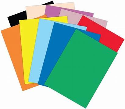 Paper Clipart Colored Stack Papers Crafts Cliparts