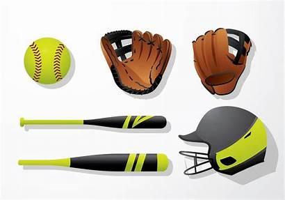 Softball Equipment Vector Bat Clipart Vectors Edit