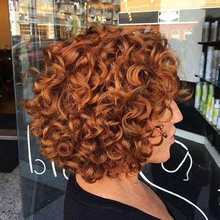 20 Short Bob Hairstyles for Curly Hair Bob Haircut and