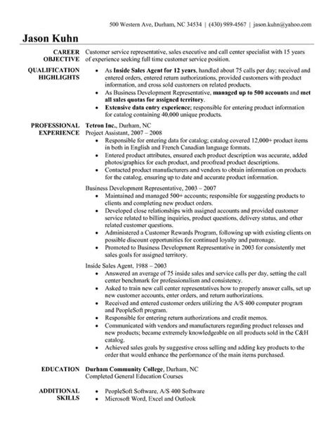 insurance claims representative resume sle