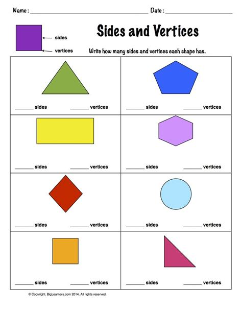 worksheet sides and vertices count and write how many