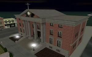 1955 Clocktower In Game Night Image Back To The