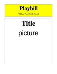 playbill template 17 best play programs images on drama class drama and musical theatre