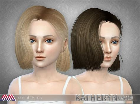 K Simple hairstyle Found in TSR Category 'Sims 4 Female